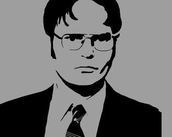 Dwight Schrute Stencil-- Reusable