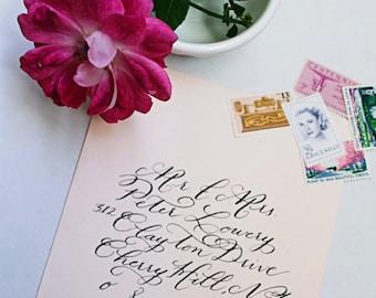 Custom Envelope Calligraphy : Parker Style