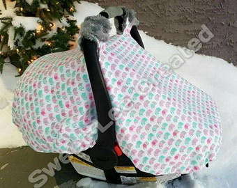Fitted Winter Car Seat Canopy