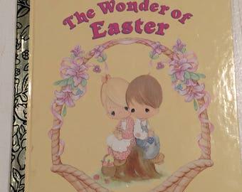 Little Golden Book, Vintage Little Golden Book, Precious Moments Book, The Wonder of The Easter Book