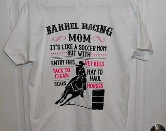 Barrel Racing Mom T-Shirt   Barrel Racing Dad T-Shirt   Barrel Racing Parent   Rodeo T-Shirt   Barrel Racer