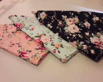 Floral dog bandanas!