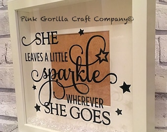Vinyl quote 3D shadow box frame