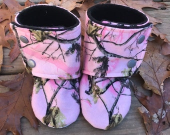 Custom Made Camo Baby Boots Sizes 0-24 months