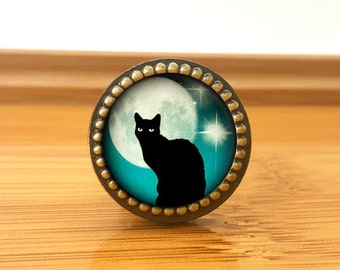 Cat--Drawer knobs/ Handmade Vintage Bronze Dresser knobs cabinet Dresser Knobs pull / Dresser Pull / Cabinet Knobs / Furniture Knobs