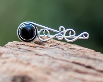 Black Onyx Ear Climber // Black Onyx Ear Crawler // Silver Ear Cuff // Ear Sweeps // Ear Jacket // Celtic Knots Earrings // Celtic Climber