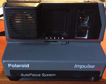 Vinatge Polariod Impulse - Auto Focus System - Pop-up Flash - Awesome design - circa 1980s - Camera works! A GREAT Gift!