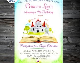Princess Castle Invitation, Castle Invitation,Princess Castle Birthday Invitation,Royal Celebration,Princess Invitation