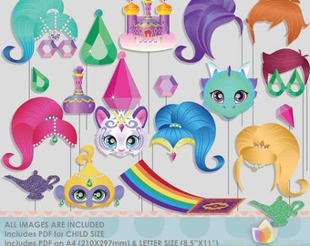 SALE!! Limited Time! Magical Fairies Photo Booth Props for jewel party