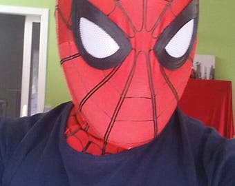 Spiderman lycra Homecoming only Mask, wearable, sub, with web lines in puffy painted, with glued to the fabric, no faceshell.
