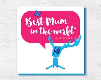 Cute Mothers Day Card - Best Mum