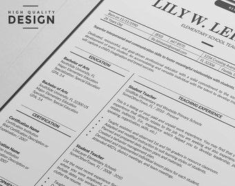 teacher resume etsy - Template Cover Letter For Resume