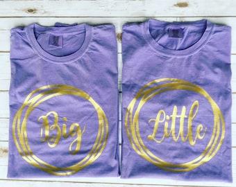 Big Little Comfort Color Shirt, Short Sleeve // Sorority Shirt // Big Little Sorority Shirt //Big Little Shirt//Monogram