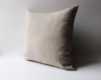 Natural Washed Linen Pillow,  Grey Linen Pillow, Custom Pillow Covers, Linen Pillow