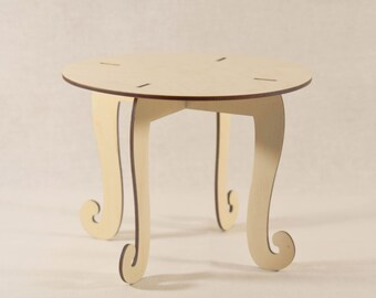 Dollhouse dining table/ doll table/ miniature table/ dining room/ dollhouse furniture/ doll furniture/ wooden doll table/ / 1 6 1 12 scale
