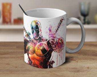 Deadpool, Deadpool Mug, Deadpool Watercolor, Magic Coffee Mug, Color Changing Mug, Ironman