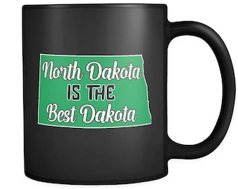 North Dakota Home State Map Coffee Mug Cup