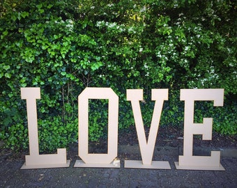 LOVE Letters; 2ft, 3ft & 4ft Tall romantic rustic wedding sign photography prop