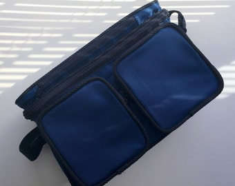 """Vintage Blue """"Lunch Box"""" style camera bag"""