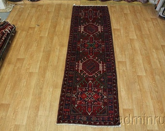 Colorful Geometric Meshkin Karajeh Runner Persian Oriental Area Rug Carpet 3X11
