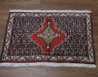 2x3 Excellent Handmade Rare Design Entrance Tribal Bidjar Persian Oriental Area Rug Carpet 1'8X2'4