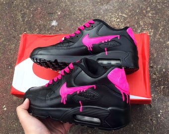 Drippy neon pink air max 90