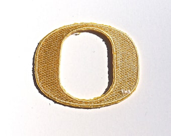 Oregon Ducks Embroidered Iron on or sew on patches choose quantity and size