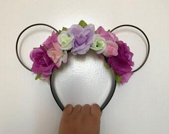Wire w/flowers Disney Ears