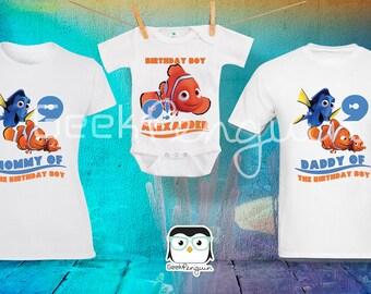Finding Nemo Birthday Shirt, Finding Nemo shirt, Finding Nemo Party, Finding Nemo personalized, Finding Nemo