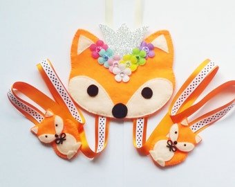 Princess Fox Hair Clip Holder , hair clip organizer
