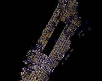 Manhattan abstract map
