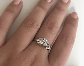 Silver & Sparkles Heart Statement Ring
