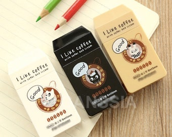 Aihao I like coffee rabbit dog cat cute kawaii kitsch plain white correction tape 6m