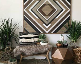 Geometric Wood Art, Wood Wall Art, Rustic Wood Art, Modern Wood Art