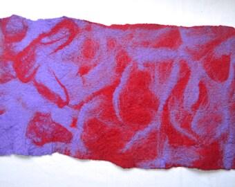 Hand felted artwork/table runner
