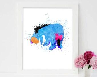 Eeyore pooh, eeyore winnie the pooh, winnie pooh, spring time with roo, seasons of giving, Disney Winnie the Pooh, Eeyore Watercolor Art