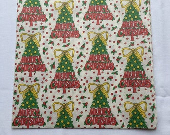 Vintage | Merry Christmas | Christmas Tree | Wrapping Paper #5