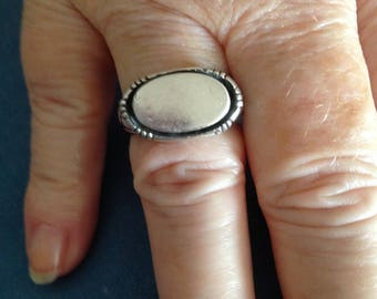 Sterling Silver Signet Ring NO Engraving