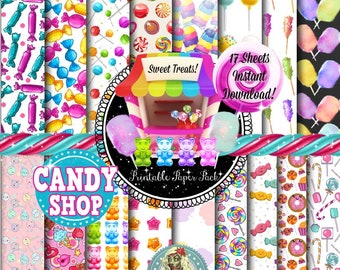Candy Digital Paper, Candy Clipart, Candy Clip Art, Candyland, Candy Land, Candy Land Invitation, Candy Land Birthday, Candy Land Party
