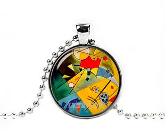 Kandinsky Necklace Wassily Kandinsky Pendant Art Jewelry Art Necklace