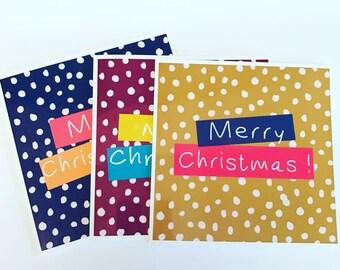 snowy xmas cards