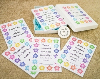 Teacher Achievement Cards, Teacher Milestone Cards, Teacher Gift