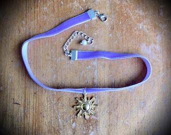 Tangled Rapunzel Disney Princess Velvet Choker Necklace