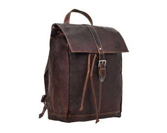 Gusti leather 'Jaime' leather backpack with waterproof lining