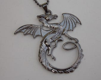 Game of thrones, Silver dragon necklace, Game of thrones jewelry, pendant, Thrones necklace, gift idea, expensive gift, fashion necklace
