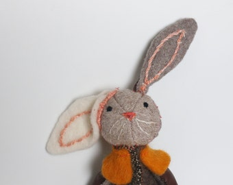 Made to Order Handmade Plush Bunny Rabbit Stuffed Animal Toy 10 Inches