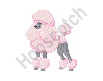 Pink Poodle - Machine Embroidery Design