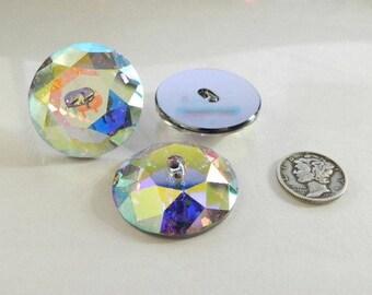 Swarovski 3014 Crystal AB M-Foil 30mm Crystal Button - (1 piece)