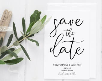 Save the Date Template, Printable Save the Date, Save the Date Instant Download, Save the Date Card, Save the Date, Wedding Save the Date