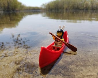 Lego Photography - Woman in a Canoe